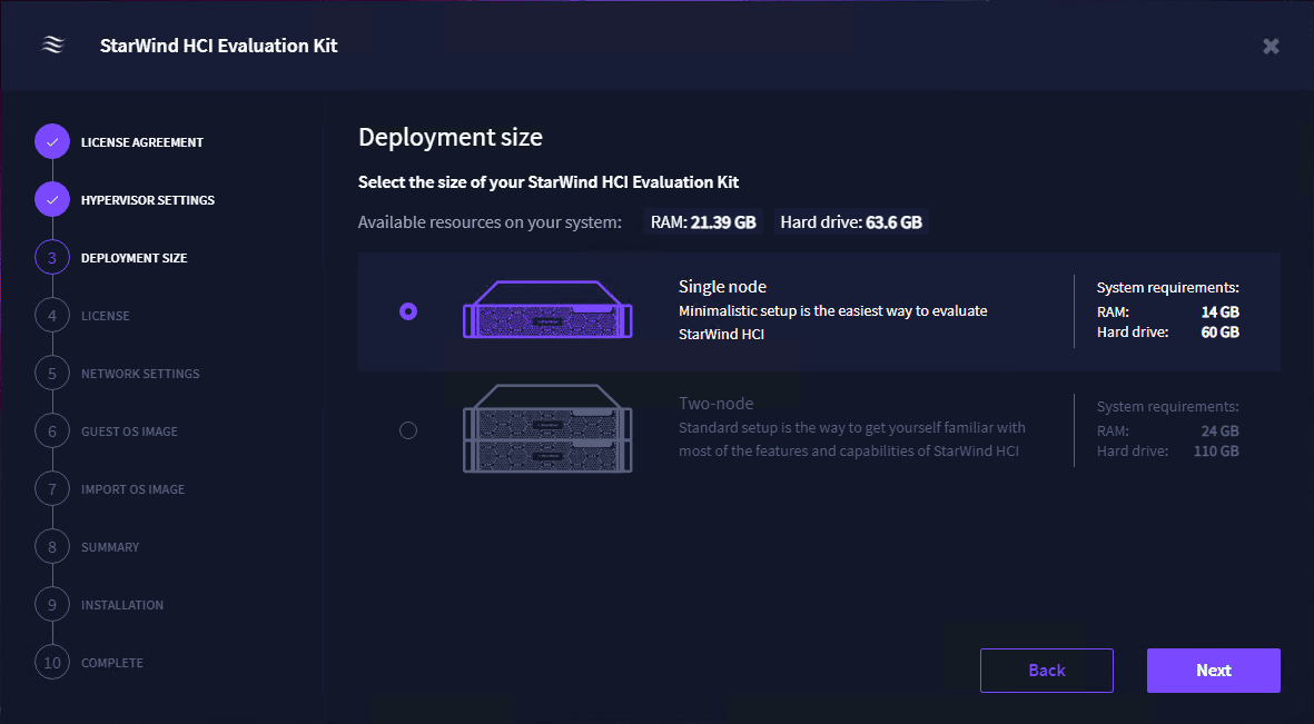 Choose your deployment size