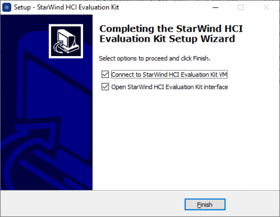 Completing the setup of the starwind hci evaluation kit