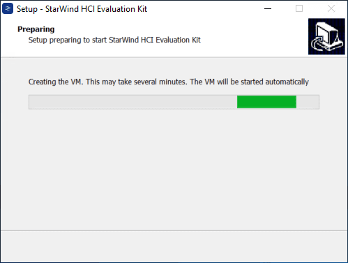 Creating the starwind management vm as part of the process