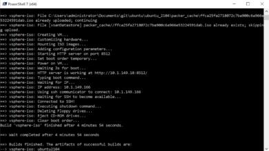 Packer build ubuntu 21.04 for vsphere