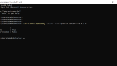 The openssh server installation completes