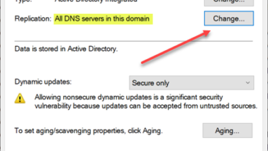 Viewing the replication properties of a dns zone running in windows server
