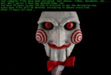Jigsaw ransomware ransom note