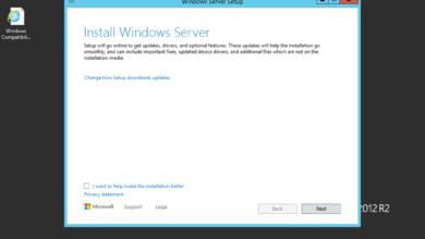 Beginning the process to upgrade windows server 2012 r2 to windows server 2022