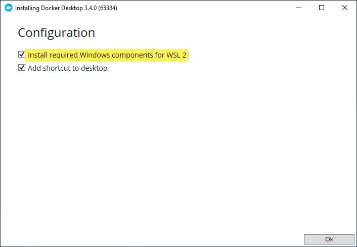 Installing docker desktop for windows