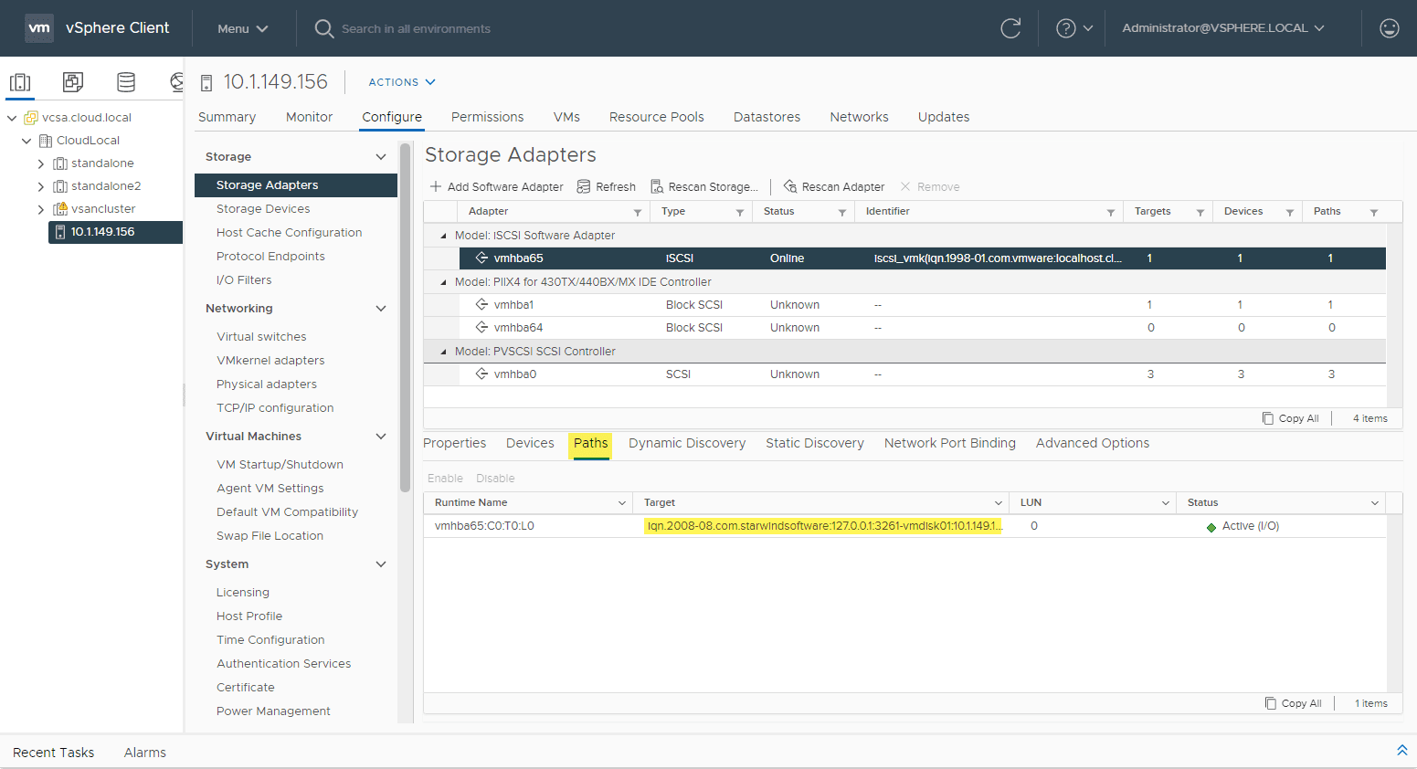 Remote iscsi lun on the iscsi target