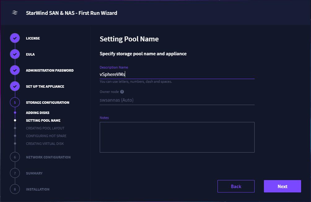 Setting a pool name