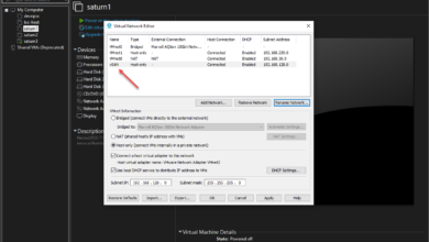 Creating a vSAN network in VMware Workstation