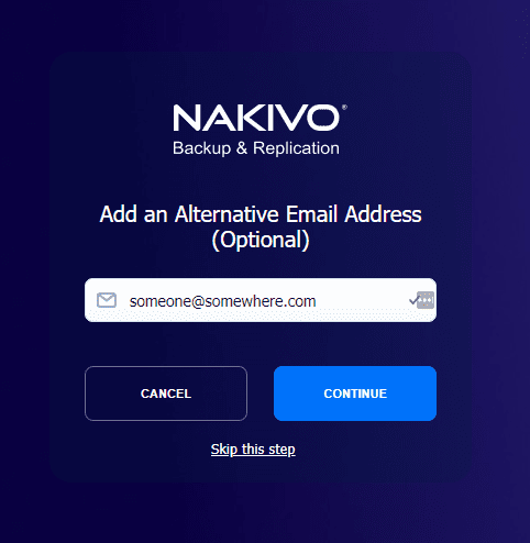 Optionally add a second email address