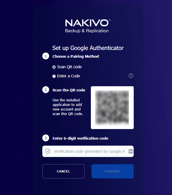 Scan the QR code for pairing your device