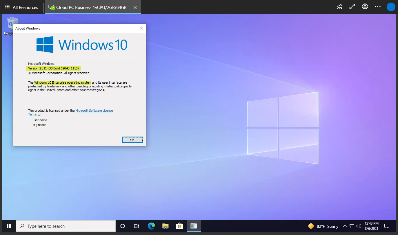 Accessing the Windows 365 Business Cloud PC