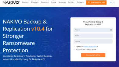 NAKIVO Backup and Replication v10.4 released for download