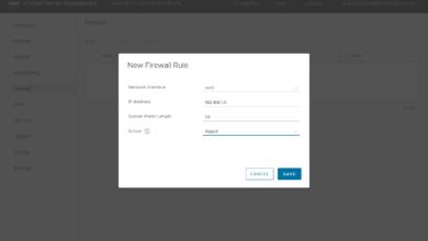 Adding a new firewall rule using the vCenter Server firewall