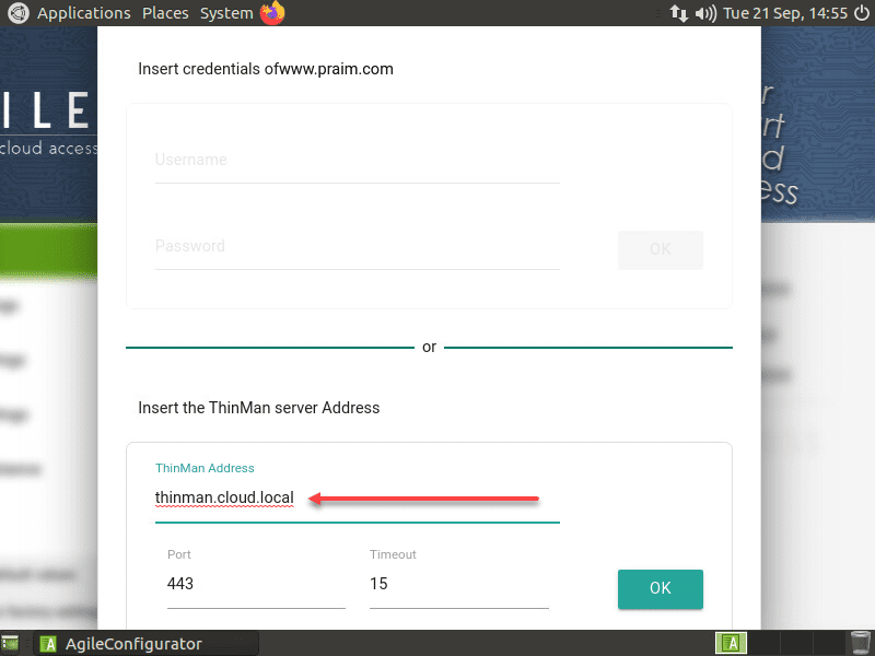 Adding the Agile4Linux remote thin client to Praim ThinMan Server