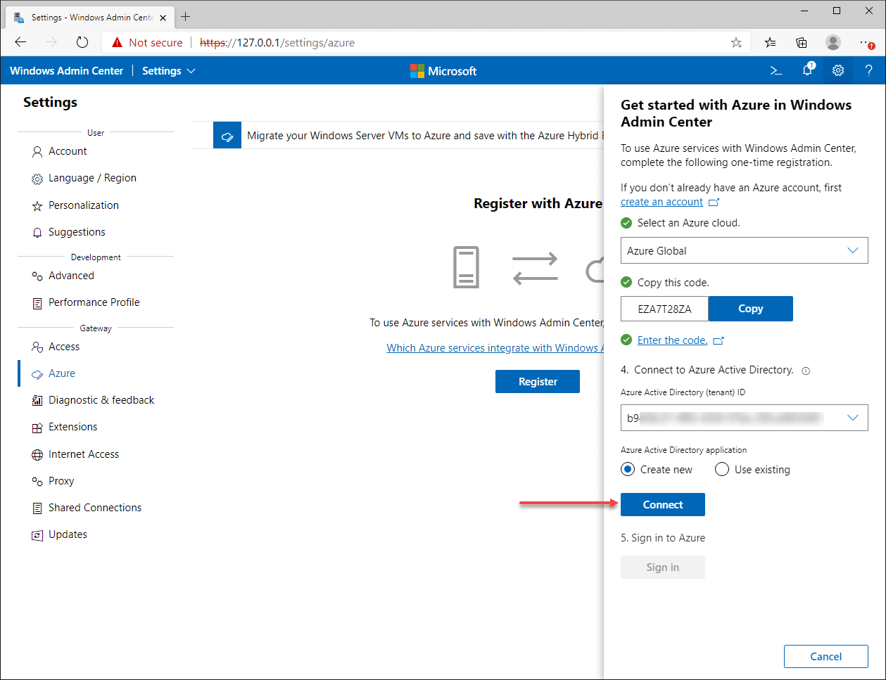 Connect to Azure Active Directory