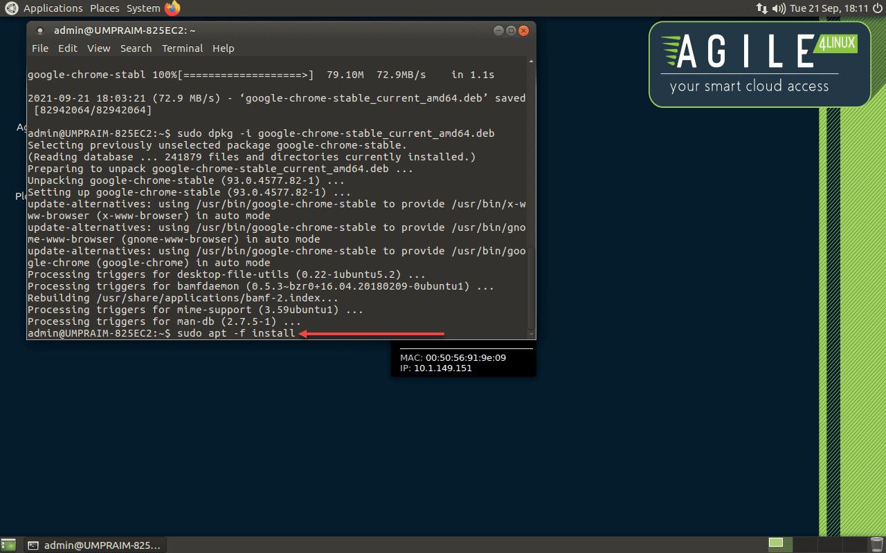 Installing Chrome in the Ubuntu Mate environment of Praim Agile4Linux thin client