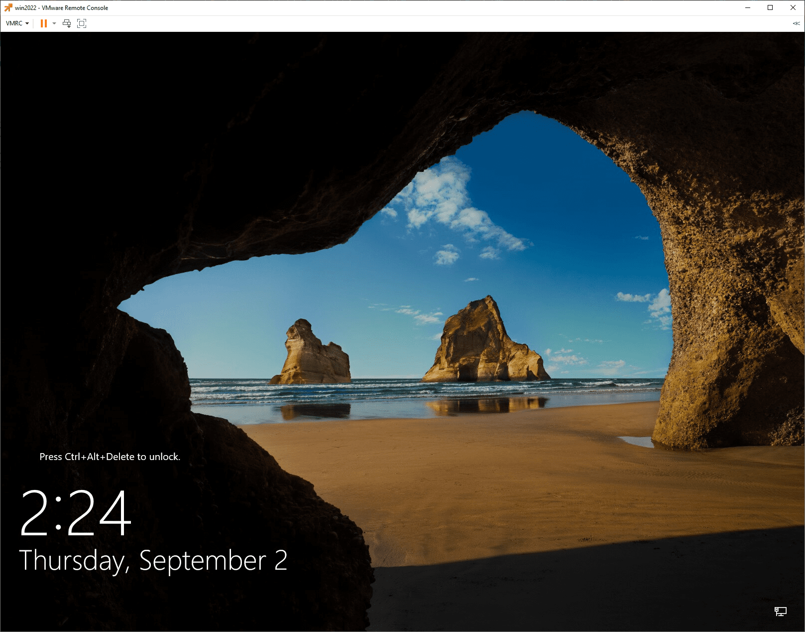 Windows Server 2022 GA installed using a Packer build and a cloned vSphere template