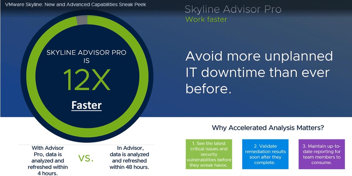 VMware Skyline Pro is faster