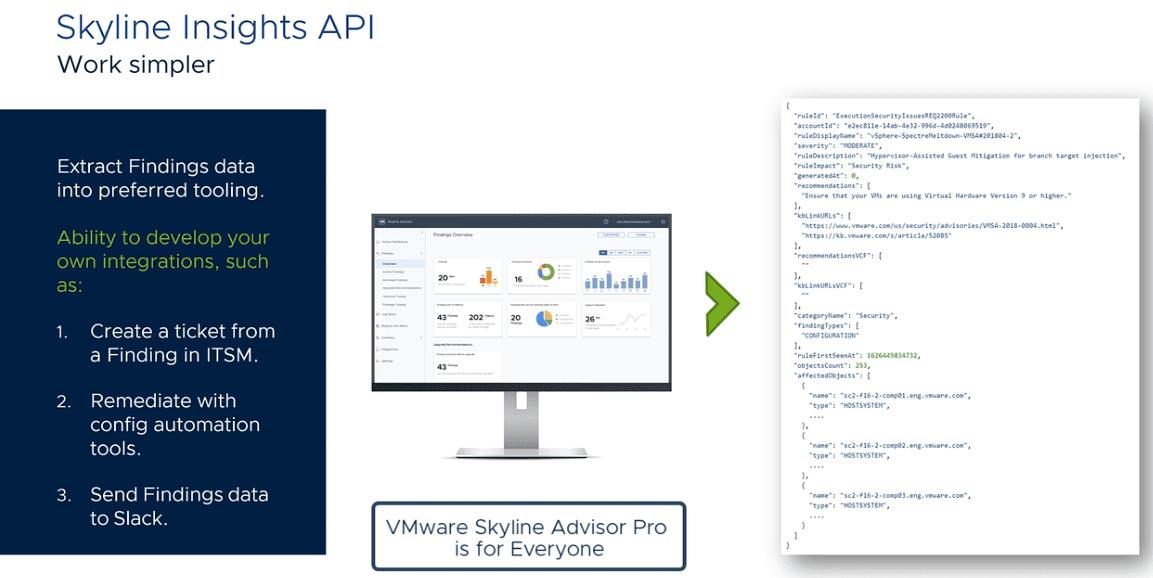 VMware Skyline Pro is simpler